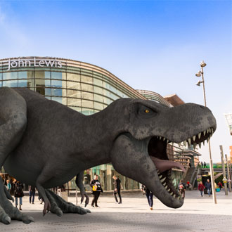 Jurassic invasion at Liverpool ONE